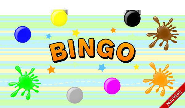Jeux Sam Amuse Jeu de bingo pour apprendre les couleurs en français
