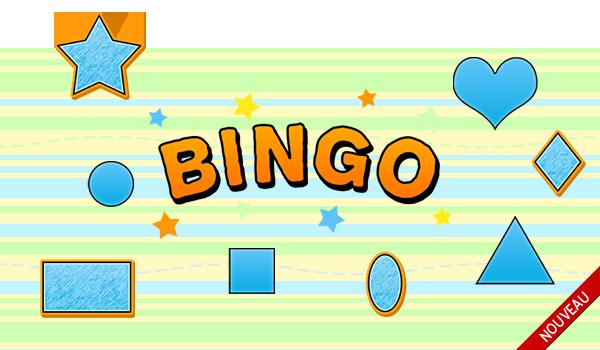 Jeux Sam Amuse Jeu de bingo pour apprendre les formes en français
